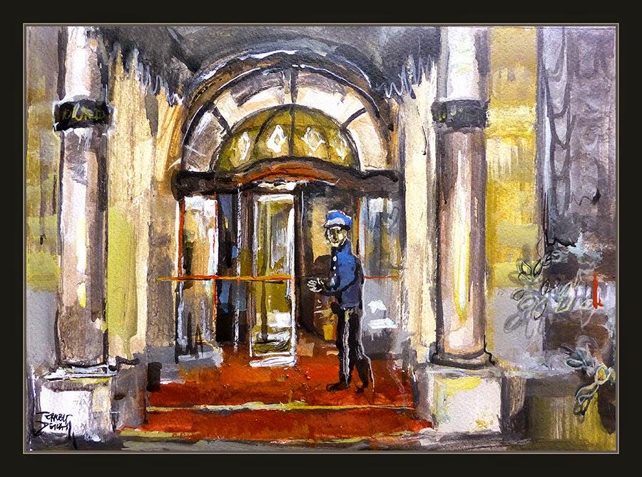 ROMA-PINTURA-ITALIA-HOTEL-HOTELES-ARTISTA-PINTOR-ERNEST DESCALS-