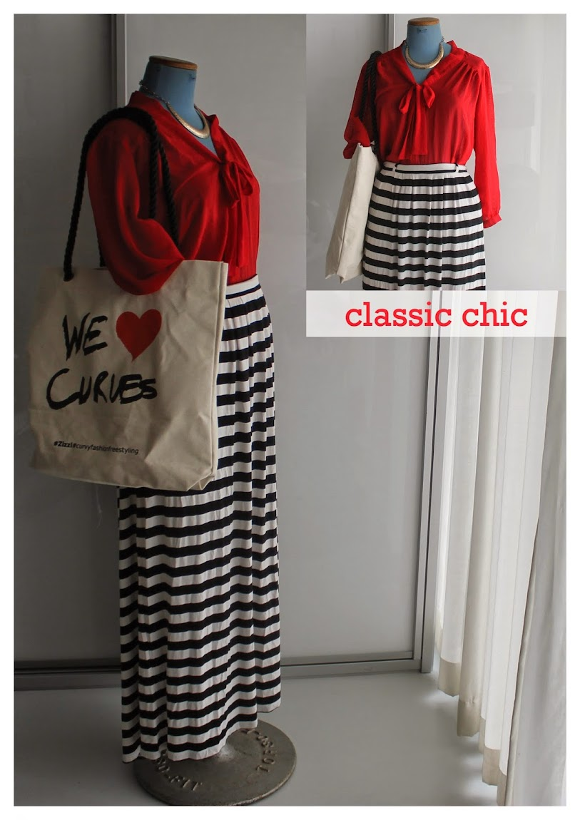 Classic Stripes Maxi Skirt