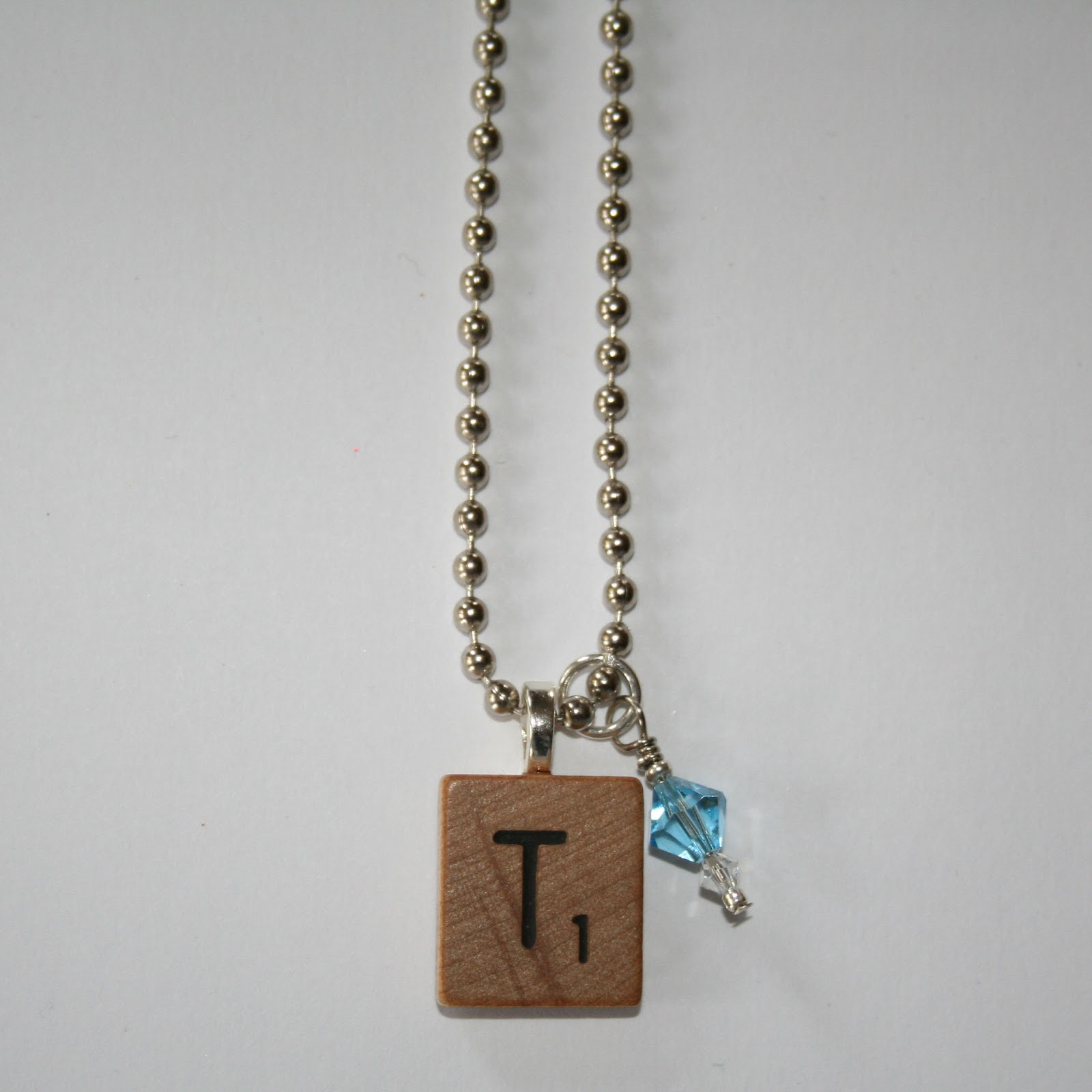 necklace upcycled scrabble tile