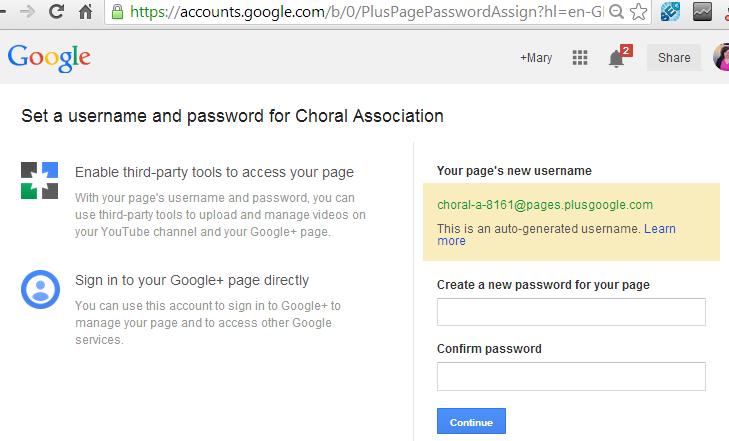 how to change password on google plus
