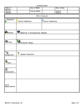 Activity Lesson Plan Template Pasoevolistco - Lesson plans template