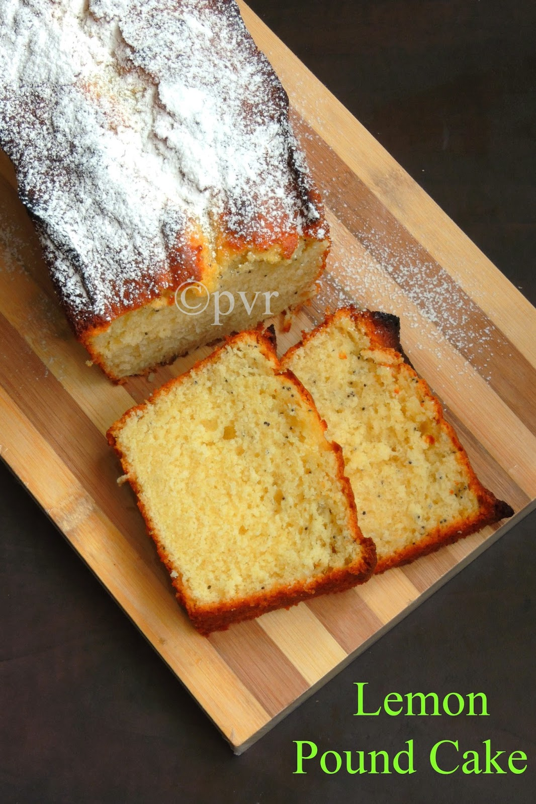 Lemon Poppyseeds Pound Cake, Lemon Pound Cake
