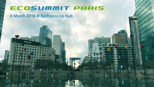 Cleantech Open France partenaire de l'Ecosummit Paris le 6 mars 2018 !