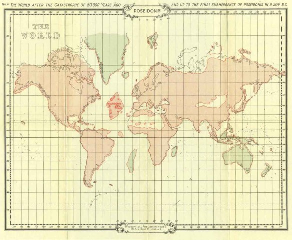 Mapa Atlantida e Lemuria a 12 mil anos, ruta e daitia