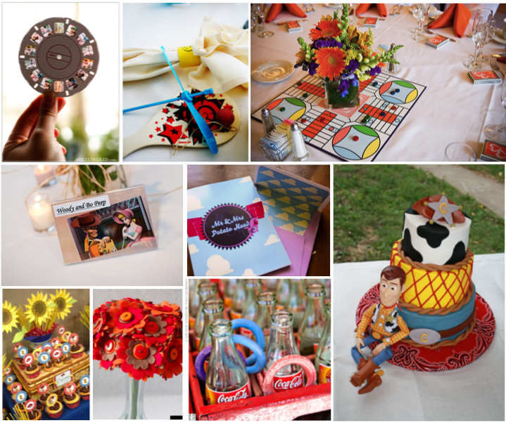 Toys For The Honeymoon : Simply inspirational toy story themed wedding