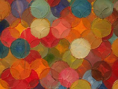 kate mackay, painting, oil on canvas, circle square