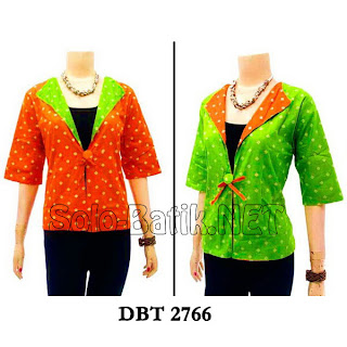 DBT 2766 - Trend Blouse Batik Wanita Terbaru 2013