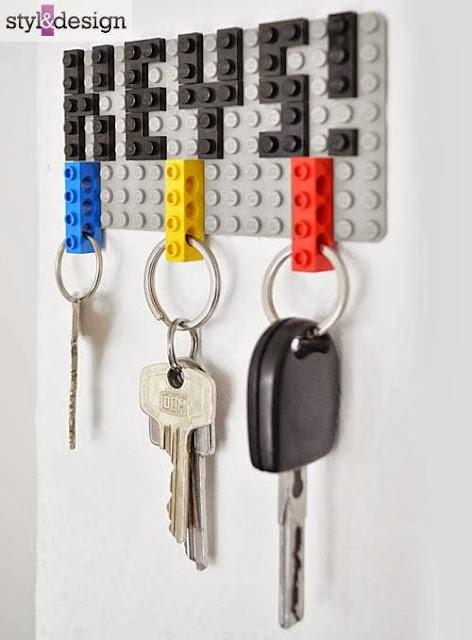 Wieszak, Przedpokój, klucze, na, klocki lego, pas samochodowy, wentyl, DIY, jak zrobić, recycling, recykling, drugie życie rzeczy,