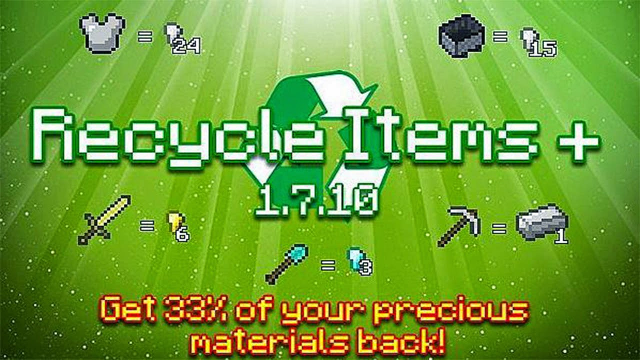 Recycle Items Plus 1.7.10