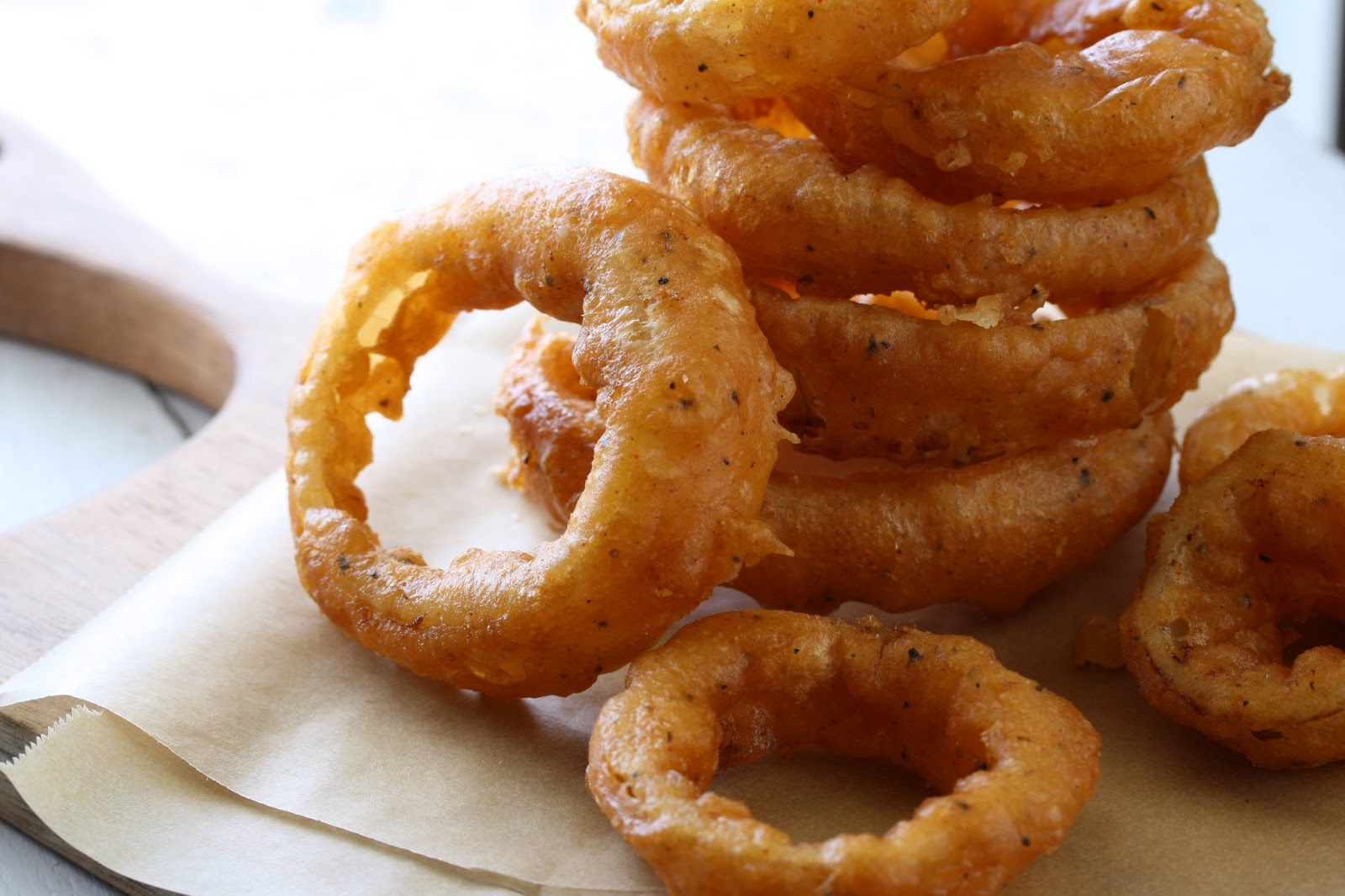 Onion Rings with Spicy Dipping Sauce - Saving Room for Dessert
