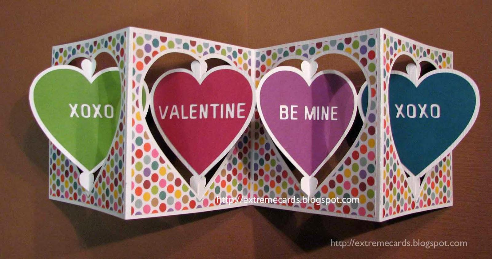 conversation heart card open
