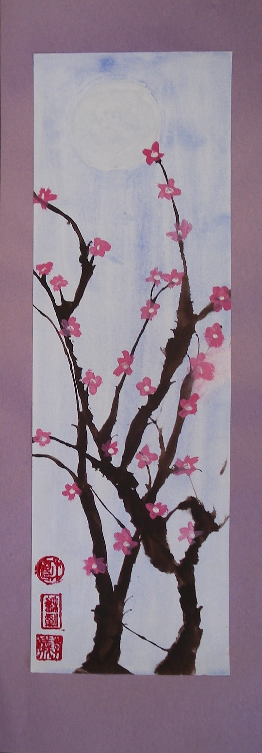 A faithful attempt cherry blossom paintings for Simple cherry blossom painting