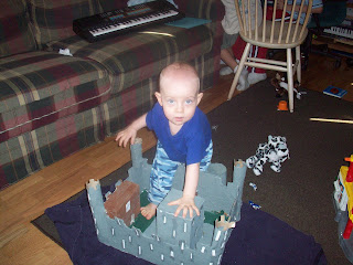 Completed paper mache castle! An invader