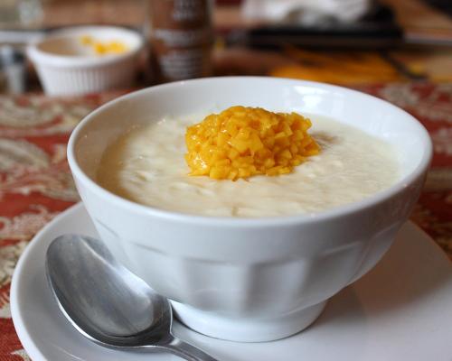 ... Coconut Milk Rice Pudding with Fresh Mango – I Don't Like Rice