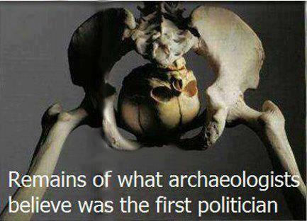 Remains of the first politician