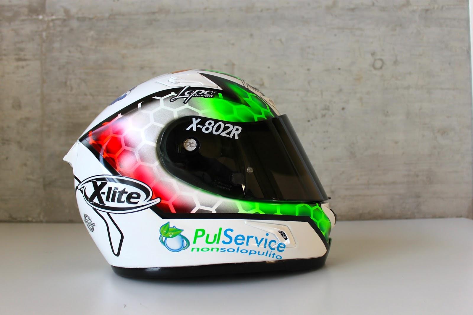 racing helmets garage x lite x 802r c gobbi 2015 by. Black Bedroom Furniture Sets. Home Design Ideas