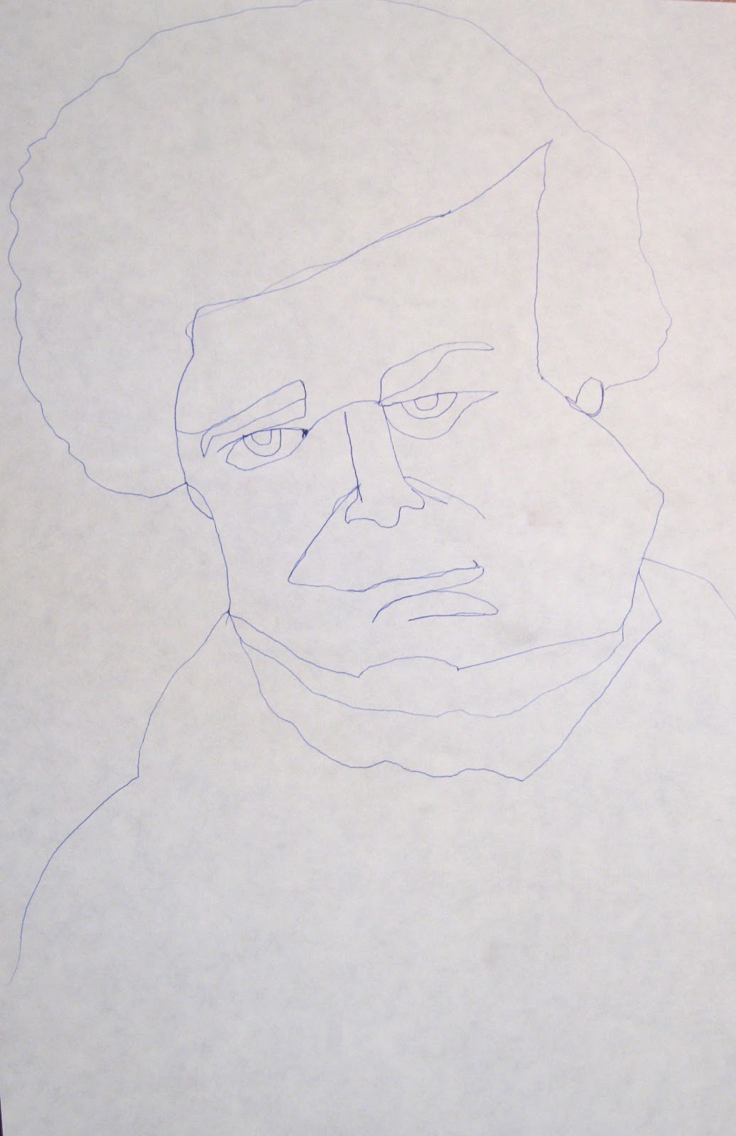 Blind Contour Line Drawing Lesson Plan : Project art a day lesson i can t resist it contour line