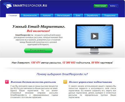 SmartResponder - сервис добровольного e-mail-маркетинг