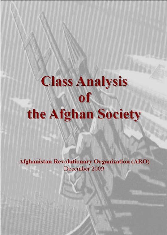 Class Analysis of the Afghan Society