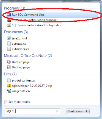 SQL Command Line Oracle