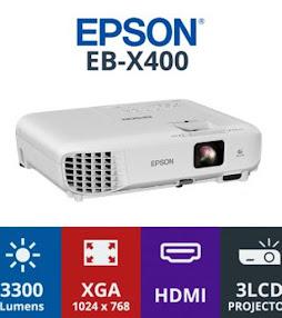 "Promo Paket Lcd Projector Eposon + Layar Manual 96""(244cm X 244cm)"