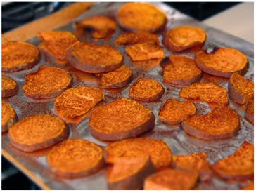 Clean baked sweet potatoes