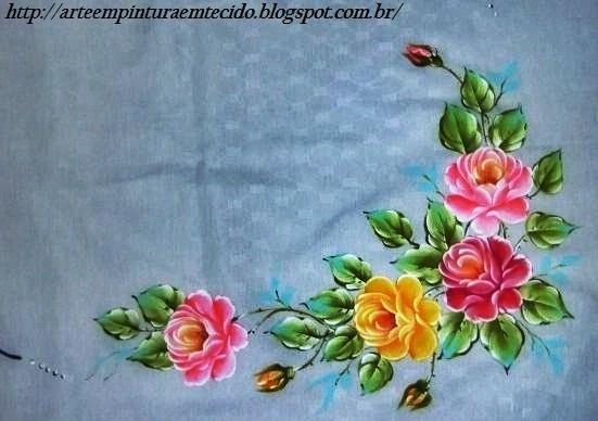 pintura em tecido toalha de mesa
