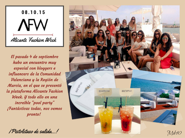 alicante fashion week afw mujer despues de los 40 blogger pool party