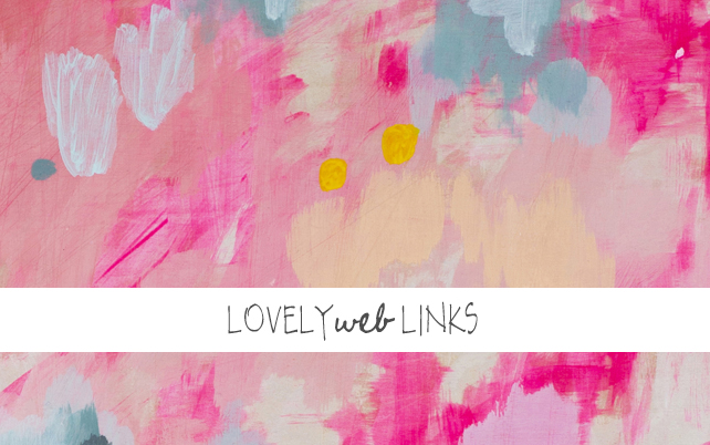 Lovely Web Links by Lesley Myrick Art + Design f/ career lessons from Joanna Goddard, blog post title writing tips from Alexandra Franzen, NYT article about blogging burnout, time management tips, Betsy Burnham's design studio, how to be fit fabulous and free over 30, and a #giveaway. #lovelyweblinks