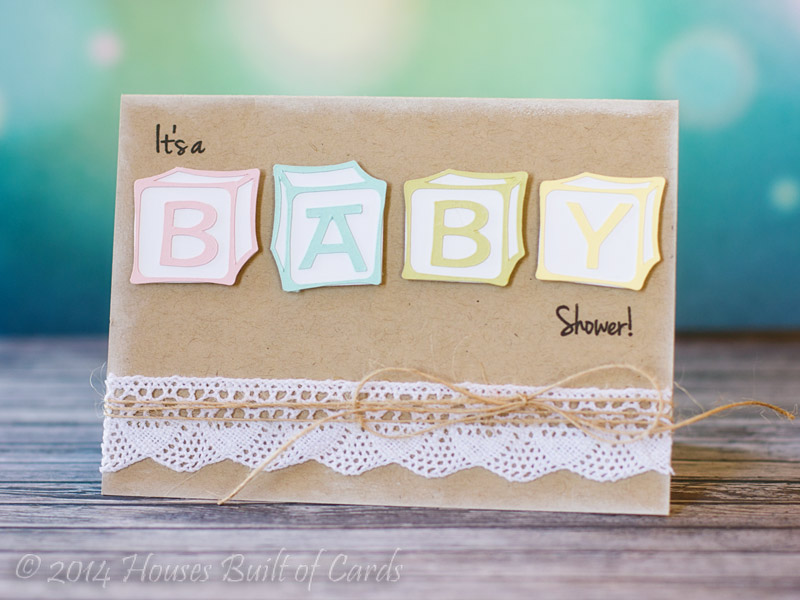 Houses Built of Cards: Baby Block Shower Invitations