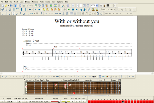 Belajar Gitar Akustik Fingerstyle dengan Guitar Pro 5