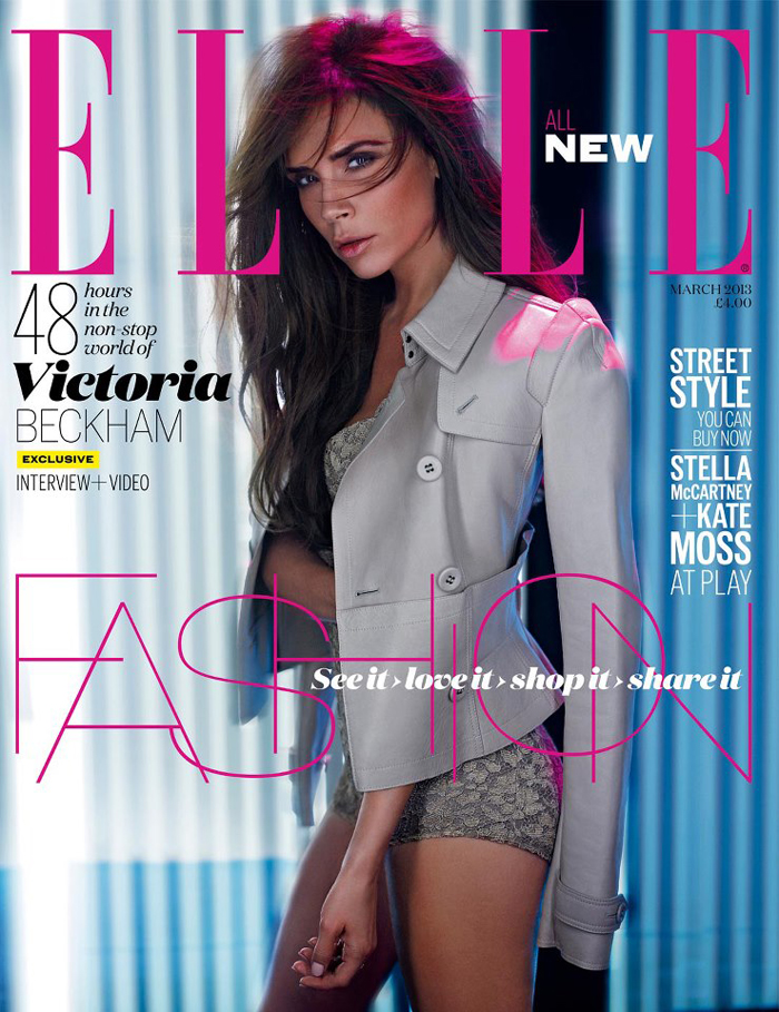 Victoria Beckam for Elle UK, March 2013, burberry, fashion editorial