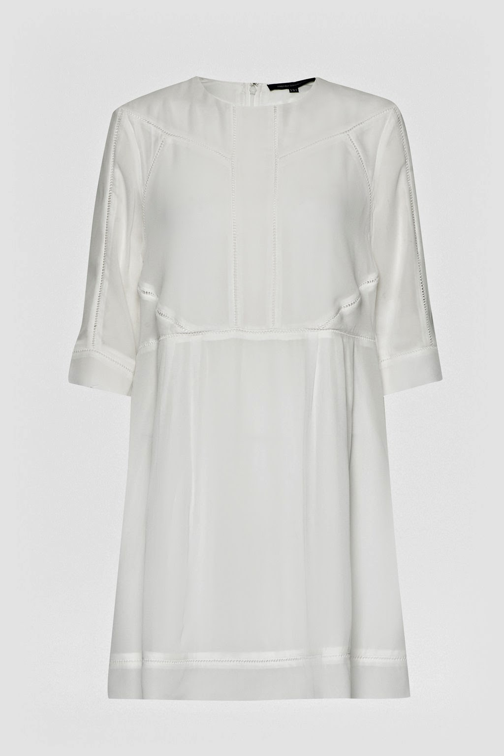 french connection white midi dress,