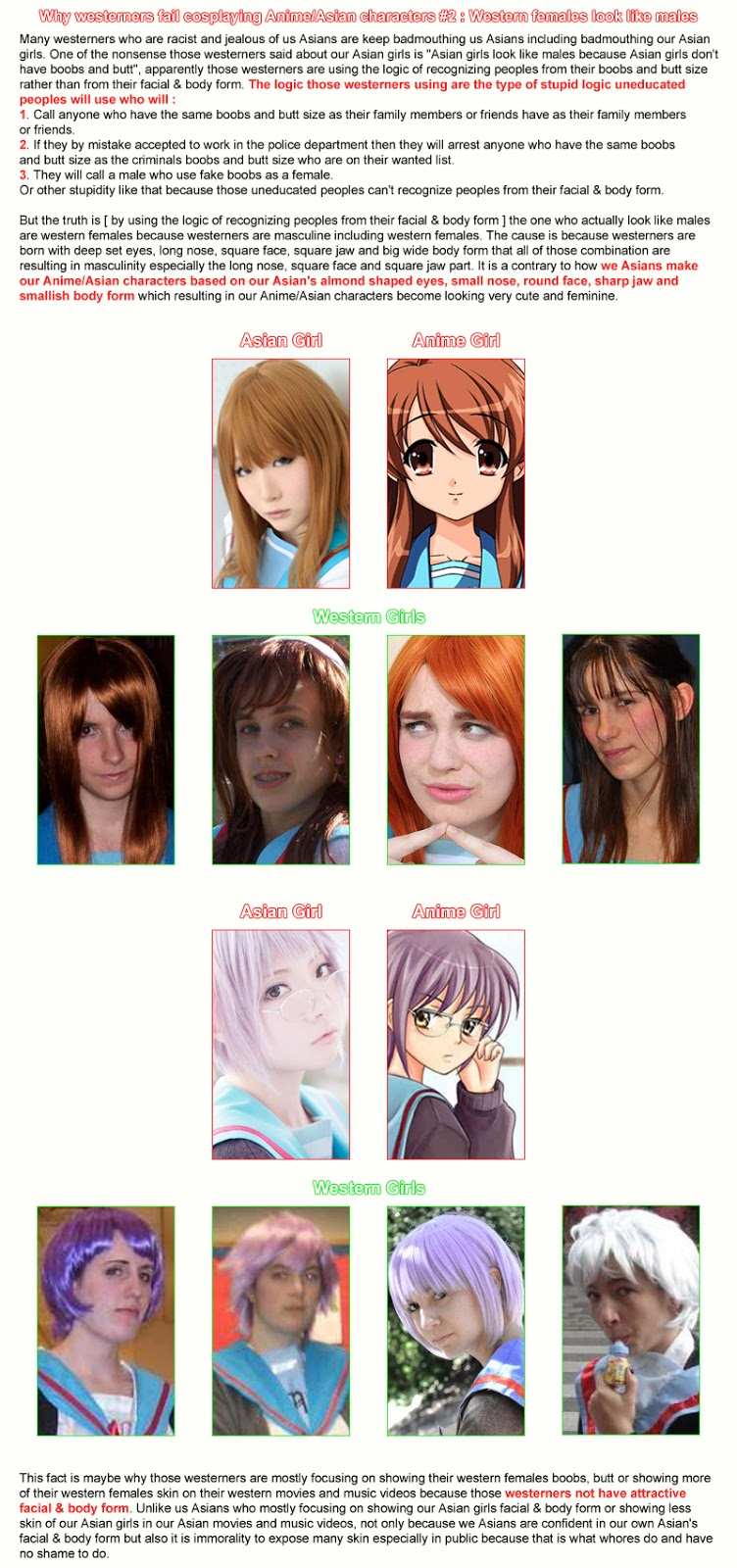 Crunchyroll forum why do western cosplayers get mad when told they do not look like anime characters