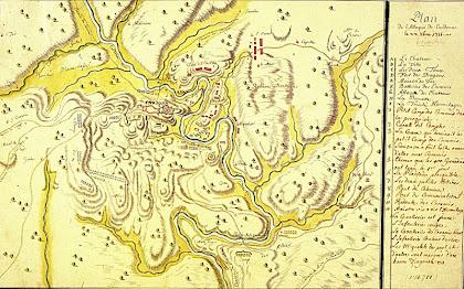Mapa del setge de Cardona de 1713