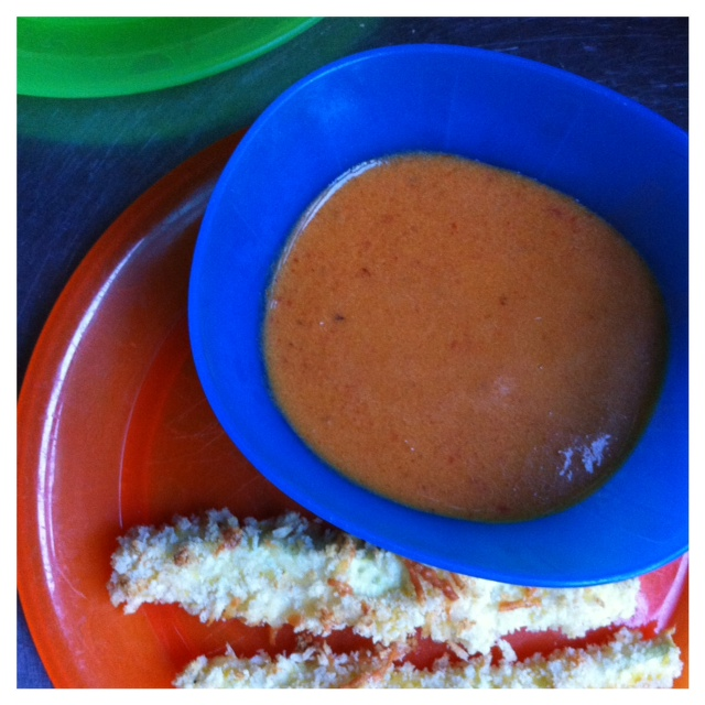 ... 14) Roasted Red Pepper Tomato Soup and Baked Parmesan Zucchini Sticks