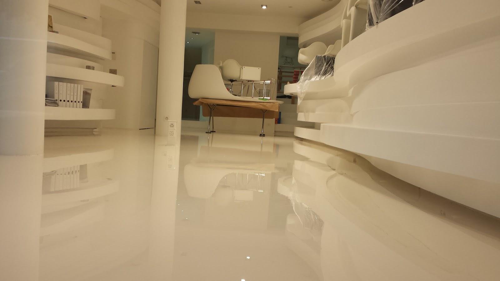 Pavimenti Sottili Jogja : Pavimenti in resina color sabbia: per interni