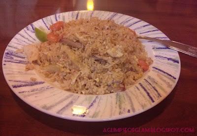 pork, chicken, shrimp fried rice