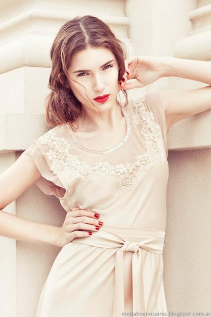Vestidos, faldas y blusas 2014 Maison Natalie B. Moda verano 2014.