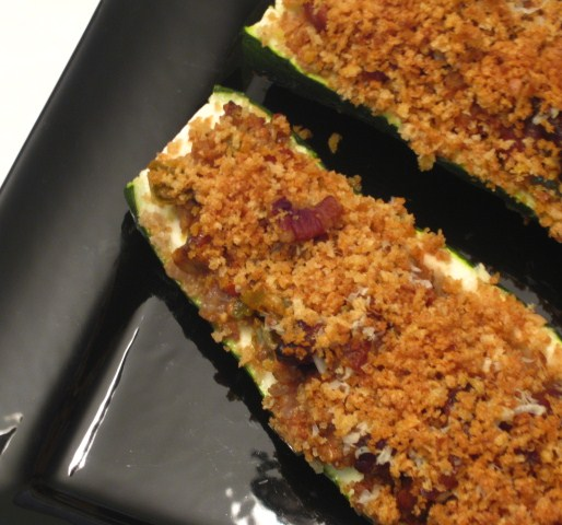 Duo of Chefs: Italian Sausage-Stuffed Zucchini Boats
