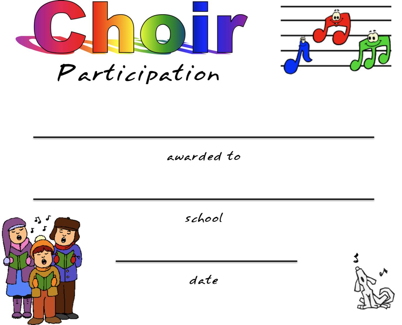 Choir Certificate Template Mandegarfo