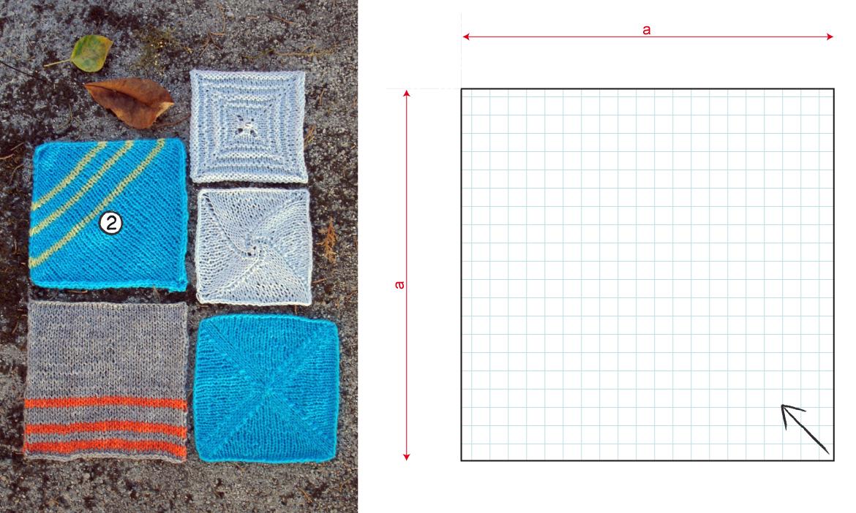 la oveja escocesa patterns: El cuadrado (2): efecto diagonal