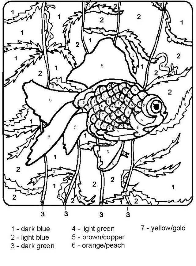 Colorear pez con letras - Dibujo Views