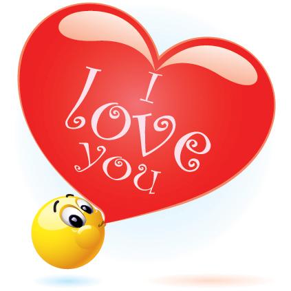 Big love bubble emoticon