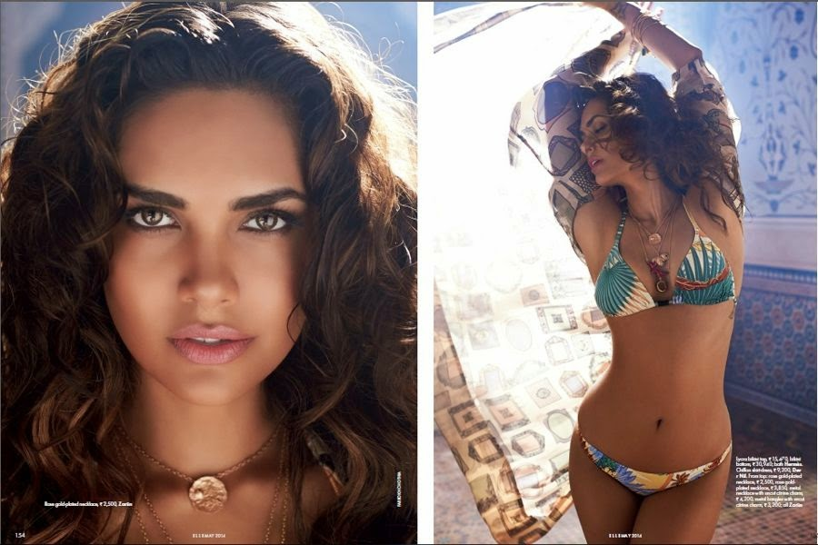 Esha-Gupta-Flaunting-her-Hourglass-Bikini-Body