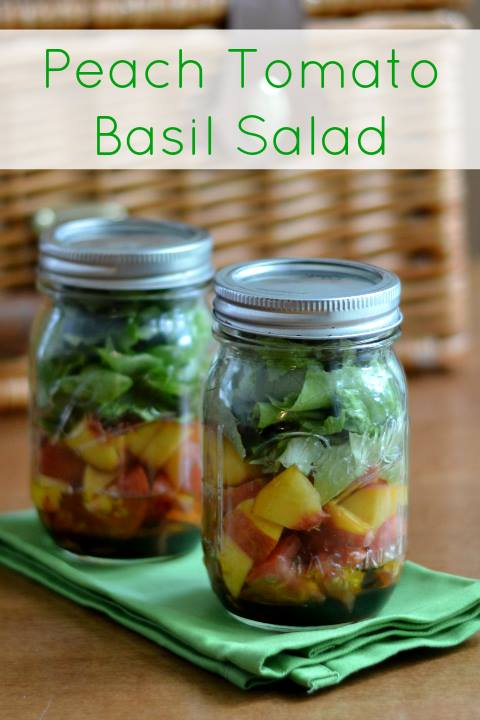 Sara Stakeley: Peach Tomato Basil Salad