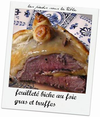 feuilleté biche au foie gras et truffes