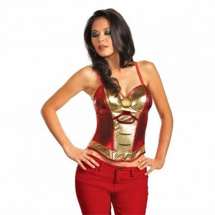 Top Armadura Iron Man Chica