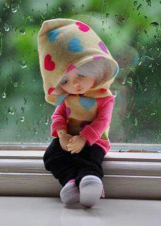 cute doll missing someone