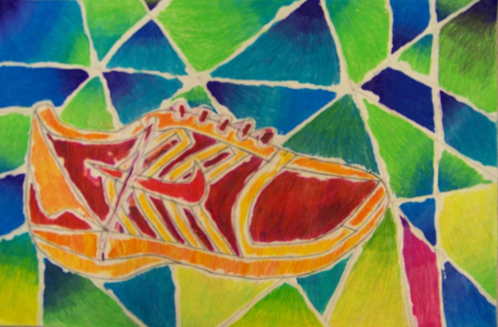 Contour Line Drawing Shoes Lesson Plan : The lost sock : glue shoe multi media contour line